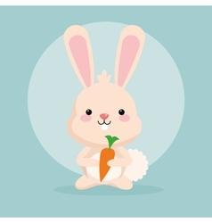 Rabbit cartoon icon woodland animal vector