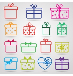 Set of gift boxes vector image