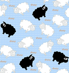 sheep seamless vector image