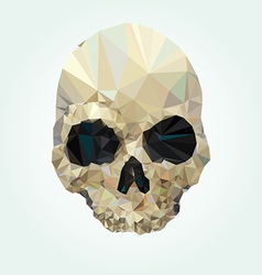 skull low poly vector image vector image