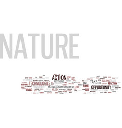The nature s opportunity text background word vector