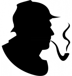 Vector silhouette pipe smoker vector