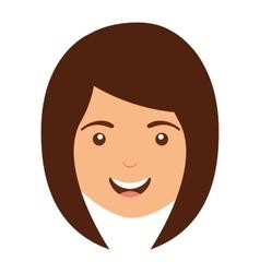 Woman avatar isolated icon design vector