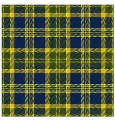 Yellow Tartan Design vector image