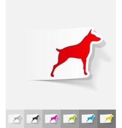 Realistic design element doberman vector