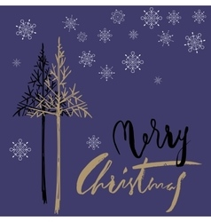 Christmas tree silhouette design for greeting vector