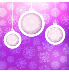 Christmas ball made of snowflakes  eps8 vector