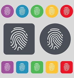Scanned finger icon sign a set of 12 colored vector