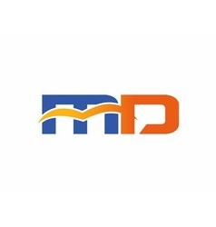 Letter M and D logo vector image