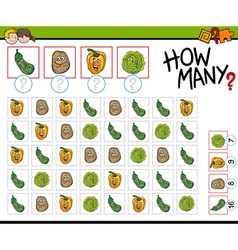 how many vegetables activity vector image
