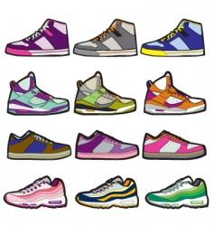 sneaker sets illustration vector image
