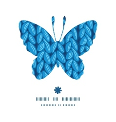 Knit sewater fabric horizontal texture butterfly vector
