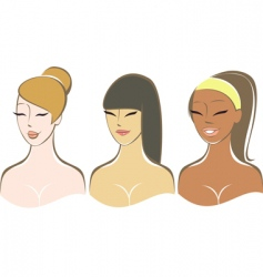 Pretty girls vector
