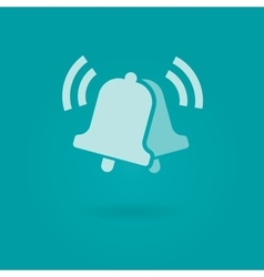 Notifications call icon with ringing bells vector