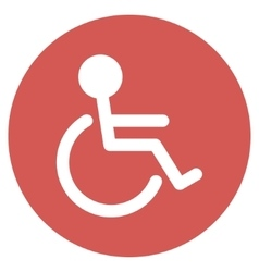 Handicapped flat round icon vector