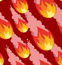 Meteor shower seamless pattern destruction of vector