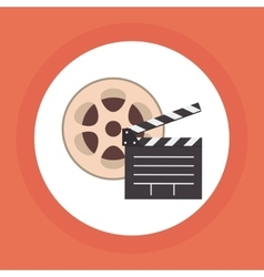 Colorful retro cinema vector