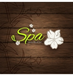 Spa resort or beauty business vector