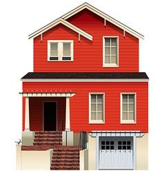 A big wooden house vector