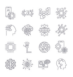 artificial intelligence industry integration vector image