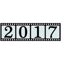 banner 2017 film strip vector image