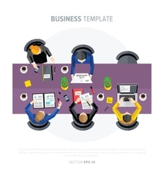 Business negotiations view from above vector