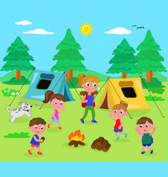 Camping people vector