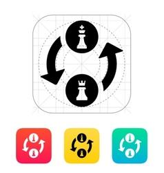 Castling icon vector