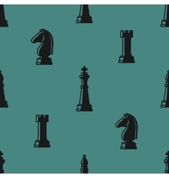 Chess seamless pattern vector image vector image