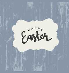 easter greeting card with happy easter text on vector image vector image