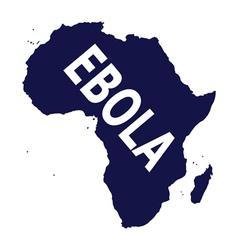 Ebola virus in Africa vector image