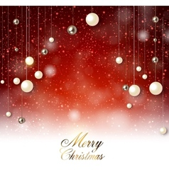 Elegant background with snow and christmas garland vector