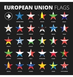 European union flags vector