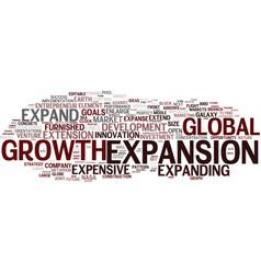 Expansion word cloud concept vector