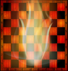 Fire and chessboard vector