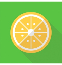 Flat design lemon slice icon vector
