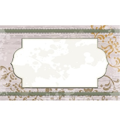 floral background with white frame vector image vector image