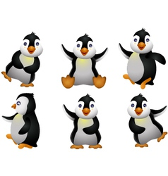 happy young penguin character vector image vector image
