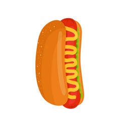 hot dog isolated flat cartoon vector image