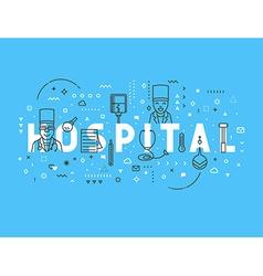 Medicine concept design hospital vector image vector image