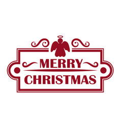 merry christmas card and frame vector image