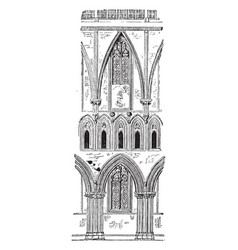Nave of wells cathedral church of saint andrew vector