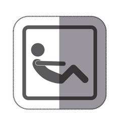 person doing sit-ups icon vector image vector image