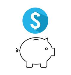 Piggy savings money icon vector