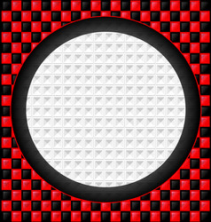 red-black cubes and white hole vector image