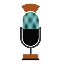 Retro microphone technology design vector