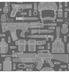 Seamless military pattern 01 vector