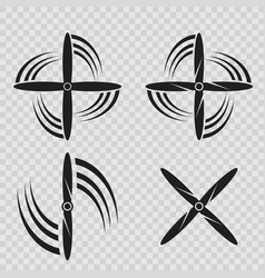 Set of aircraft screw in flat style airplane vector