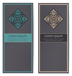 Set of invitations cards with ethnic vector