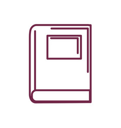 Silhouette library book tool to study and learn vector